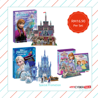 Disney Frozen - Story Book + 3D Construct and Play Model Scene