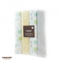Holabebe - Flannel Baby Blankets 4pcs Yellow