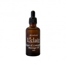 L'Clair Ginger & Lemongrass Massage Oil 50ml