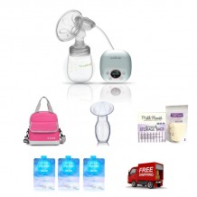 EKO Single Electric Breast Pump Package
