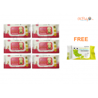 K Mom  Natural Pureness Wet Wipes Premium (80s x 6)