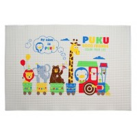 Puku Printed Air Filled Rubber Cot Sheet