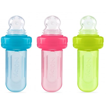 Nuby Mini Squeeze Feeder With Cover