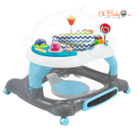 Bubbles  3 in 1 Baby Walker Blue