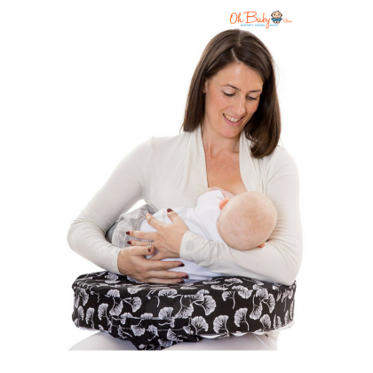 My Brest Friend Feeding/Nursing Pillow (Grey Leaf)