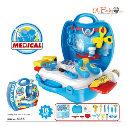Dream The Suitcase Pretend Play Toy (Doctor, Dressing, Cashier, Tools, Kitchen)