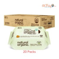 Natural Organic Baby Wipes Original Plain 30's x 20 Packs