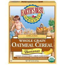 Earths Best Organic Whole Grain Oatmeal Cereal 227g