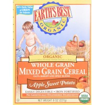 Earths Best Organic Whole Grain Cereal Apple 227g