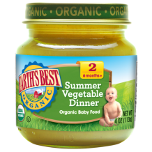 Earths Best Organic Summer Vegetable 4oz