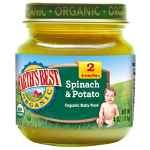 Earths Best Organic Spinach & Potato 4oz