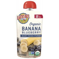 Earths Best Organic Banana Blueberry Baby Food Puree 4oz