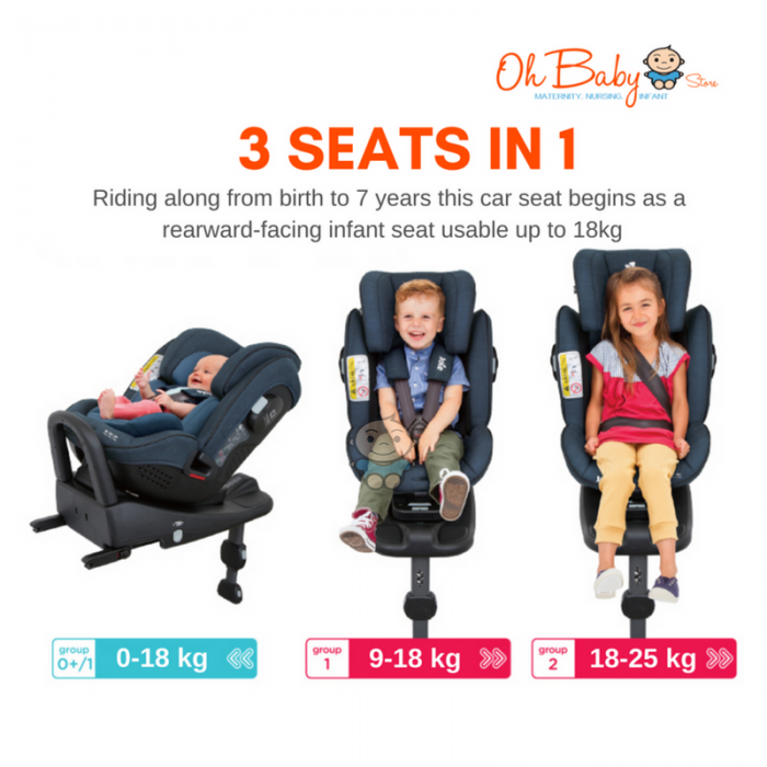 Joie Stages ISOFIX Car Seat 0 25kg FREE Protector
