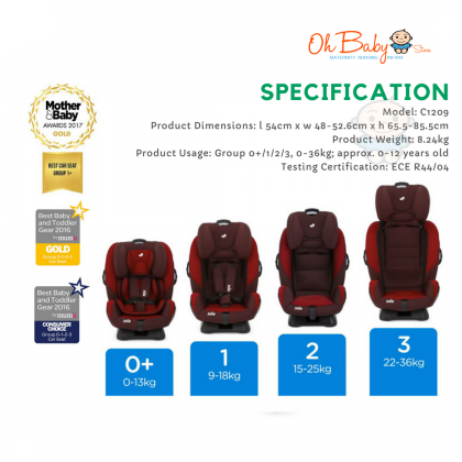 Joie Every Stage Convertible  Baby Car Seat (0+/1+/2+/3+) (0-36 kg)