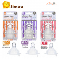 Simba Wide Neck Round Hole Nipple (S/M/L)