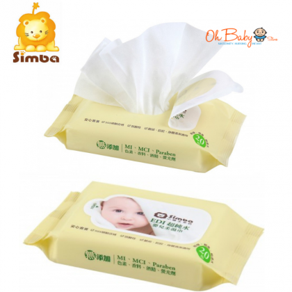 Simba Edi Pure Water Ultra Thick Baby Wet Wipes (20s)