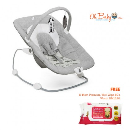 Joie Wish Baby Bouncer for New Born (9kg) [Free K-Mom Premium Baby Wipe 80's]