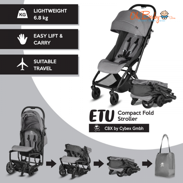 cbx etu by cybex compact fold stroller with free gift. Black Bedroom Furniture Sets. Home Design Ideas