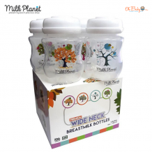 Milk Planet Premium Wide Neck Breastmilk Storage Bottle 4pcs (5oz/150ml)