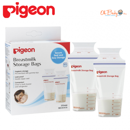 Pigeon Breastmilk Storage Bags (25pcs)