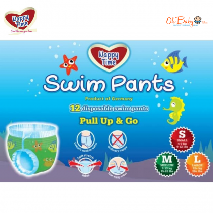 Nappy Time Disposable Swim Pants 12pcs (S/M/L)