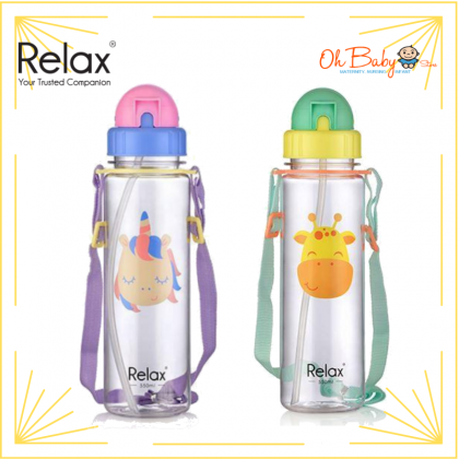 Relax Tritan Kids Straw Bottle 550ml