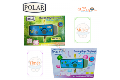 Polar Dry Cell Electronic Baby Cradle (Timer/Music)
