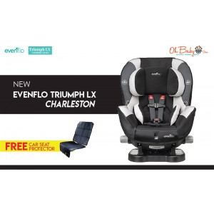 Evenflo Triumph LX Convertible Car Seat (Charleston) 0-29 kg [FREE Car Seat Protector]