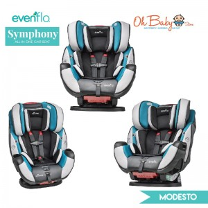 Evenflo Symphony Elite All-In-One Car Seat [FREE Car Seat Protector]