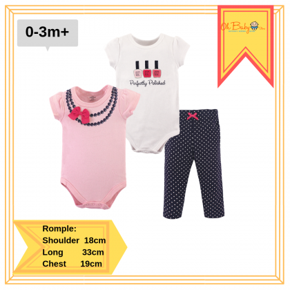 Little Treasure Bodysuit & Pant Set Ribbon