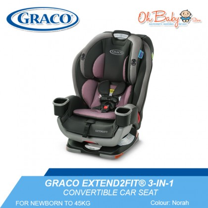 Graco Extend2FIT® 3-IN-1 Convertible Car Seat For Newborn To 45KG - Stocklyn/Norah/Garner