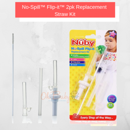 Nuby No Spill Flip-It Replacement Straw Kit