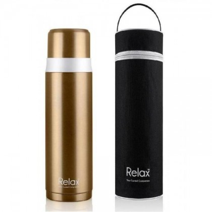 Relax 18.8 Stainless Steel Thermal Flask With Pouch
