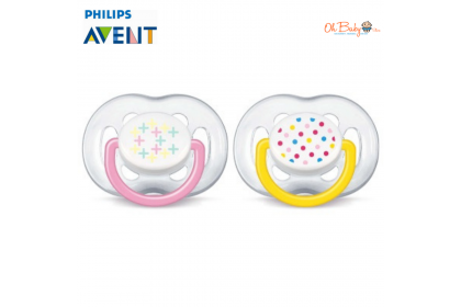 Avent Fashion Freeflow BPA Free Soother 6-18m