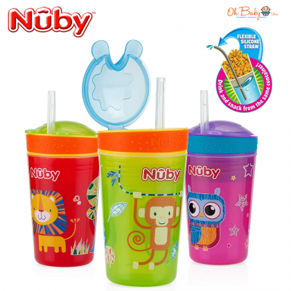 Nuby Snack N' Sip Cup 12m+ (270ml/9oz)