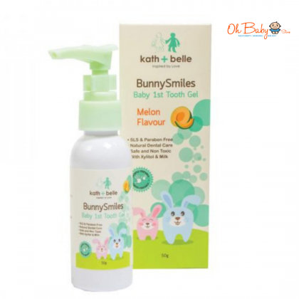 Kath+Belle Bunny Smiles Baby 1st Tooth Gel (Strawberry/Melon)