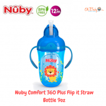 Nuby Comfort 360 Plus Flip it Straw Bottle 9oz