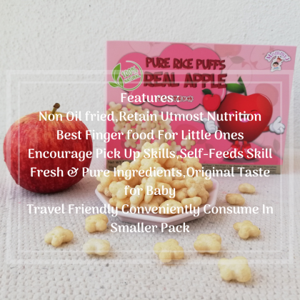 MommyJ Pure Rice Puffs Real (Apple/Banana/Blueberry)