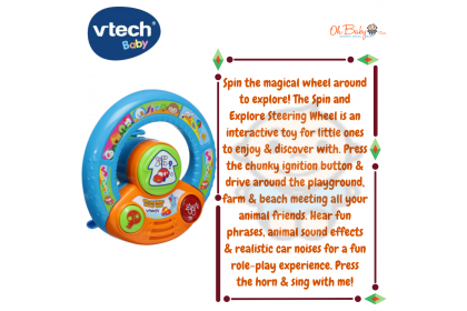 Vtech Spin and Explore Steering Wheel (6-24months)