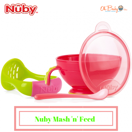 Nuby Garden Fresh Mash 'n' Feed Bowl