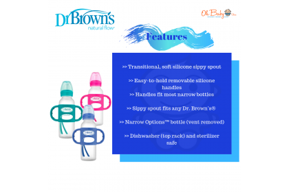 Dr Brown's Milestones™ Sippy Bottle with Handles  Narrow Neck