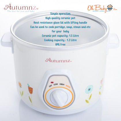 Autumnz Baby Food Cooker Model: YM-D10