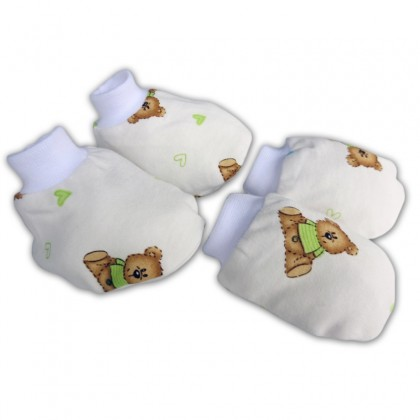 Bumble Bee Mittens and Bootees White Bear