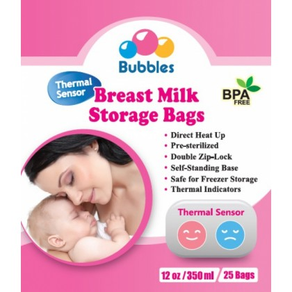 Bubbles Breast Milk Storage Bag (350ml x 25 Bags x 3 Box)