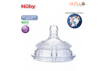 Nuby Comfort Silicone Bottle Teat Slow Flow 0 Month