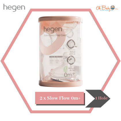 Hegen Teat 2pcs (Slow/Medium/Fast/Thick Feed)