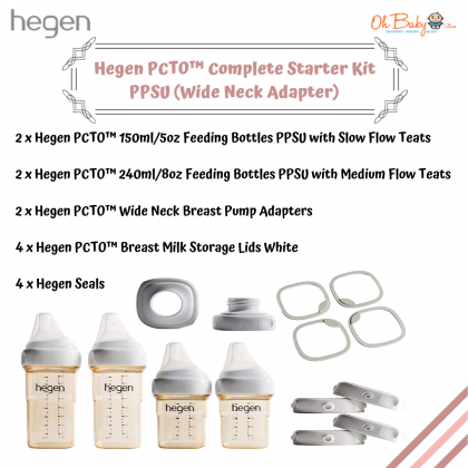 Hegen PCTO™ Complete Starter Kit PPSU (Wide Neck Adapter)