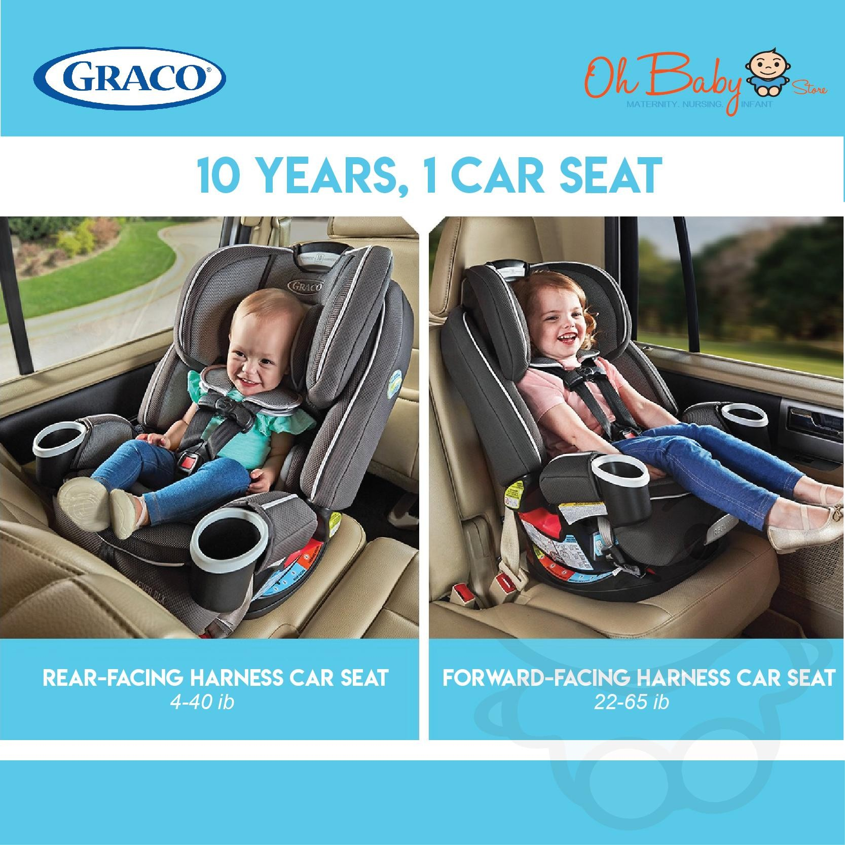 Graco 4ever Dlx Upgraded All In One Convertible Car Seat Newborn Up To 54kg