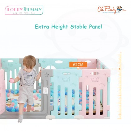 Coby Lolly Gummy Safety Play Fence (8+2)- Aero