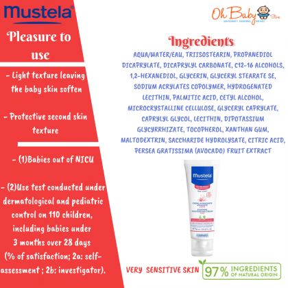 Mustela Soothing Moisturizing Cream For Face 40ml (Very Sensitive Skin)